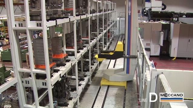 Sistemi di movimentazione FMS e cambio cubi per asservimento macchine utensili serie D