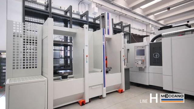 Sistemi di movimentazione FMS e cambio cubi per asservimento macchine utensili Serie H