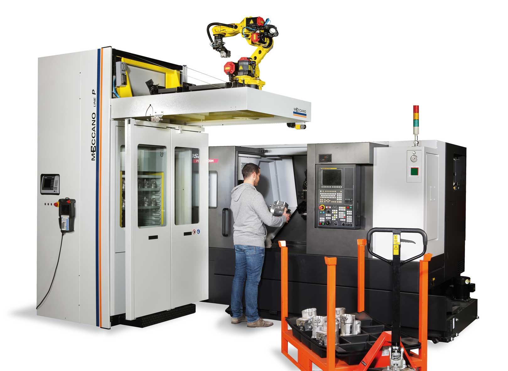 cassettiera robotizzata meccano in lavorazione manuale