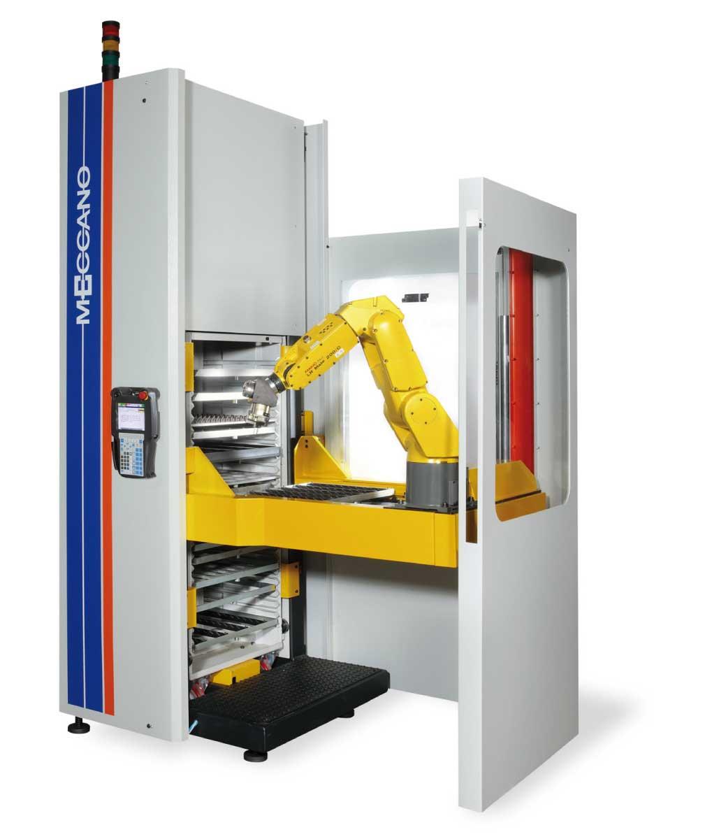 alimentatore a cassettiera con robot integrato pls
