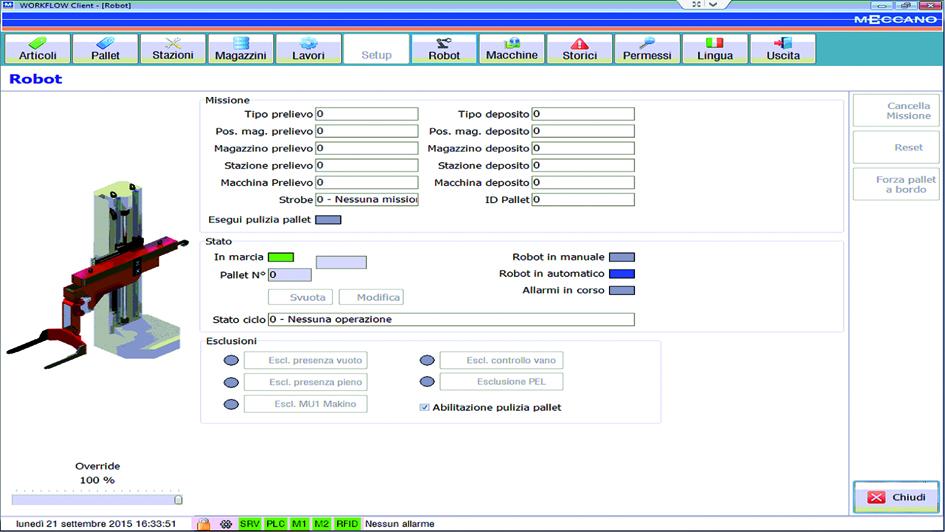 workflow: gestione supervisione isole robotizzate