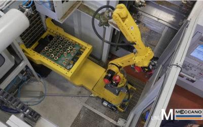 Isola robotizzata serie M con alimentatore a cassettiera, per asservimento MORI SEIKY NZ2000