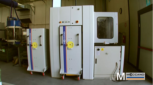 Isola robotizzata serie M per asservimento macchine utensili