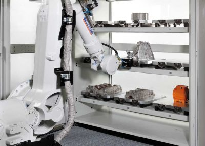 Sistema cambio pallet robot antropomorfo