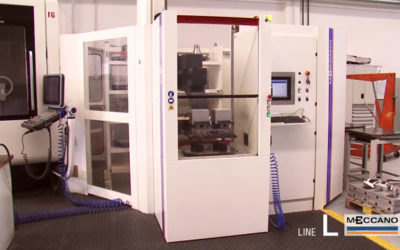 Sistema cambio pallet serie L per asservimento macchine utensili doppio magazzino
