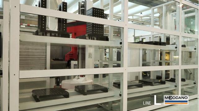 Sistema cambio pallet serie L per asservimento macchine utensili su rail