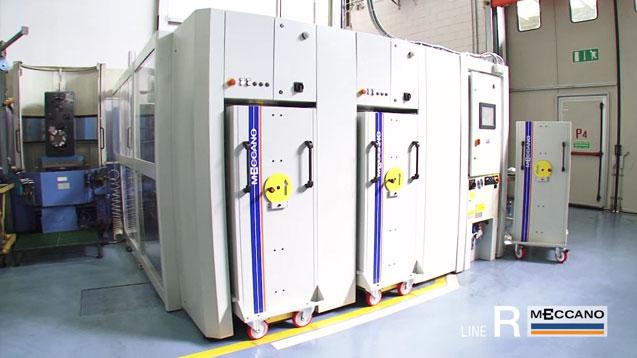 Sistema cambio pallet serie R per asservimento macchine utensili