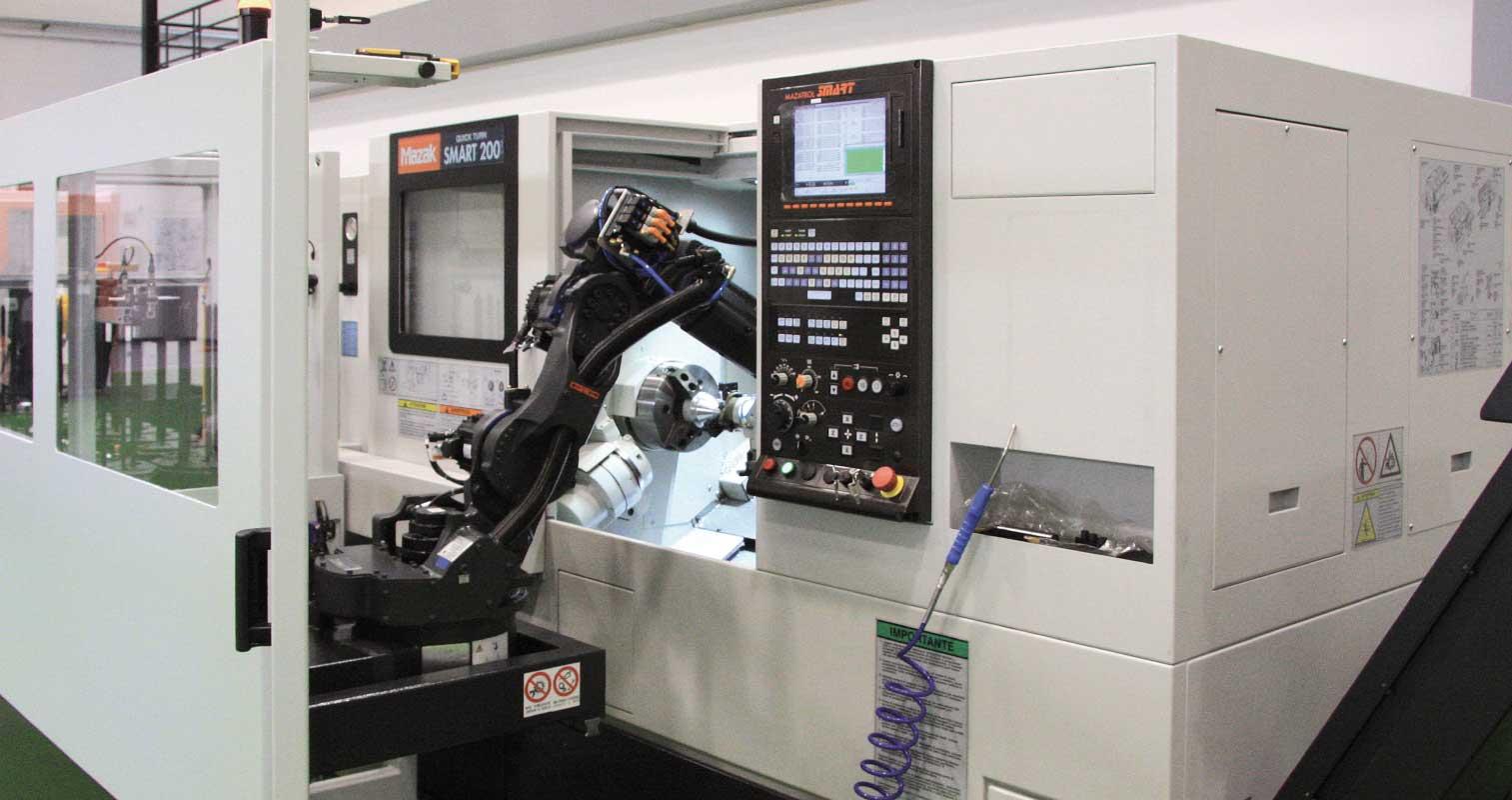sistema di ricircolo pallet con robot integrato